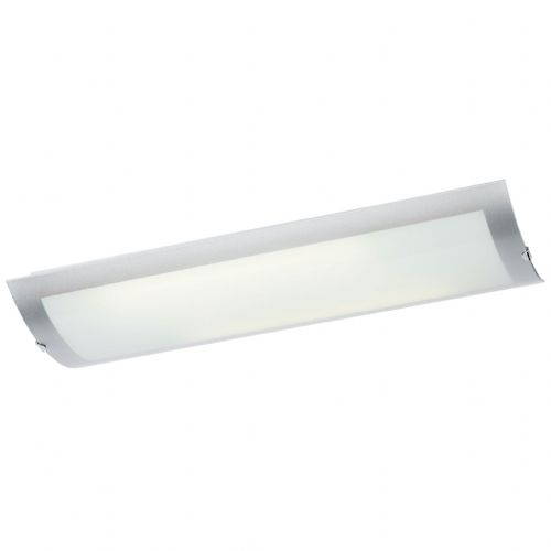 Chrome effect plate & frosted glass Flush Light 1405-67-PLCH by Endon